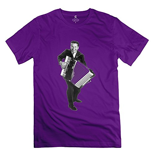 Crystal Men's Lawrence Welk Ring Spun Cotton Design T-Shirt