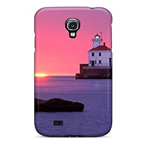 New Arrival Case Cover With AgGkjga1214CRyIv Design For Galaxy S4- Wisconsin Point Lighthouse Wisconsin