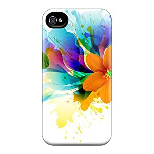 Iphone 6 Cases Covers - Slim Fit Protector Shock Absorbent Cases (flower Splash)