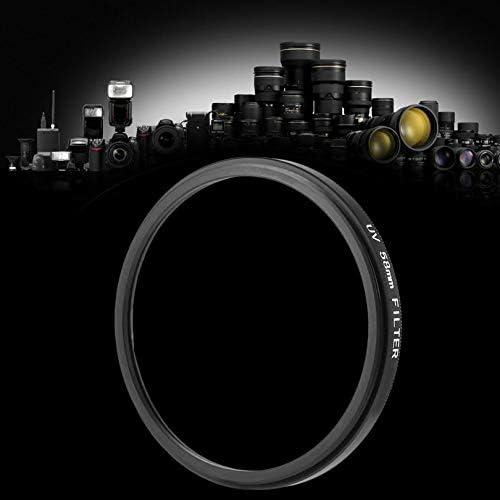 Black /& Transparent 58mm UV Ultra-Violet Haze DSLR Camera Glass Metal Lens Filter Lens Protector for All 58mm Lens of DSLR//SLR//DC//DV