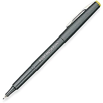 Pilot Razor Point Marker Stick Pens, Ultra Fine Point, Black Ink, Dozen Box (11001)