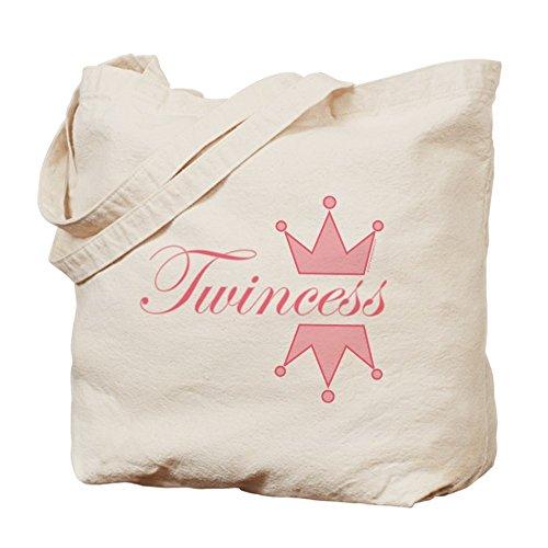 CafePress–twincess–�?gamuza de bolsa de lona bolsa, bolsa de la compra
