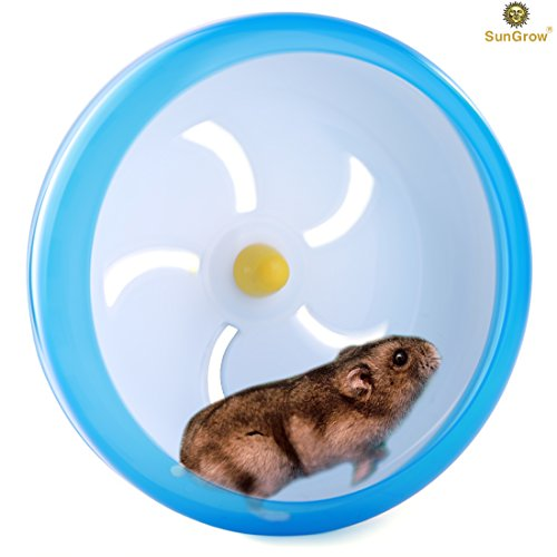 "Hamster Spinner Wheel for Mouse and Small Pets — Durable, Comfortable Spinning Exercise Toy by SunGrow – As Quiet as Library – Convenient 7"" Diameter Perfect for Gerbils, Mice and Guinea Pigs 4167OXBjcWL"