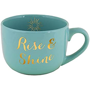 "Eccolo World Traveler ""Rise & Shine"" Ceramic Coffee or Soup Mug"