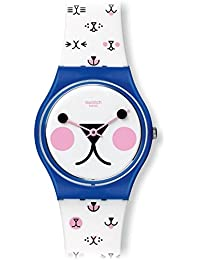 Cattitude White (Kitty Face) Dial White Silicone Ladies Watch GN241