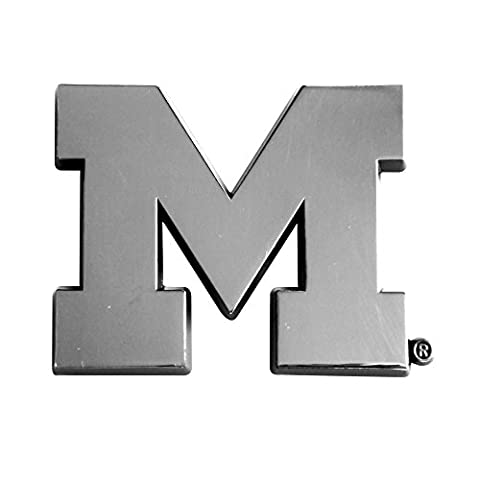 University of Michigan Chrome Car Emblem - University Chrome Car Emblem