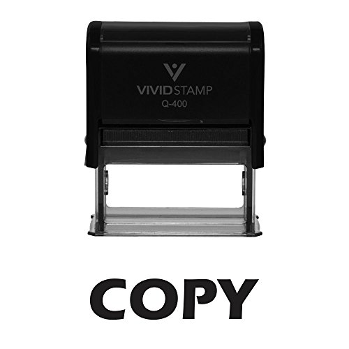 Copy Self-Inking Office Rubber Stamp (X-Large, Black) by Pacific Stamp and Sign