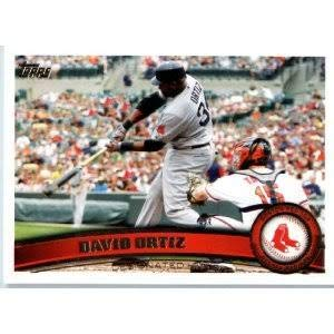 David Ortiz 2011 Topps Baseball Card #315 - Boston Red Sox - Stored in a Protective Plastic Display Case!!