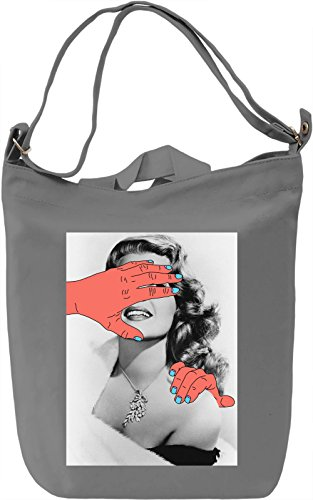 Naughty hands Borsa Giornaliera Canvas Canvas Day Bag| 100% Premium Cotton Canvas| DTG Printing|