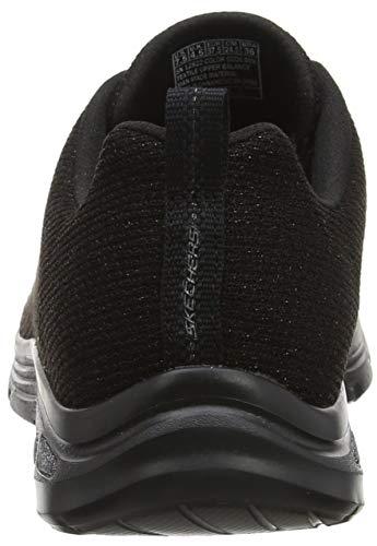 Donna Sneaker burn Nero Skechers Bbk black D'lux Empire Bright w7qSqpXz