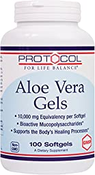 Protocol For Life Balance - Aloe Vera Gels - Bioactive Mucopolysaccharides to Support the Body\'s Healing Processes - 100 Softgels