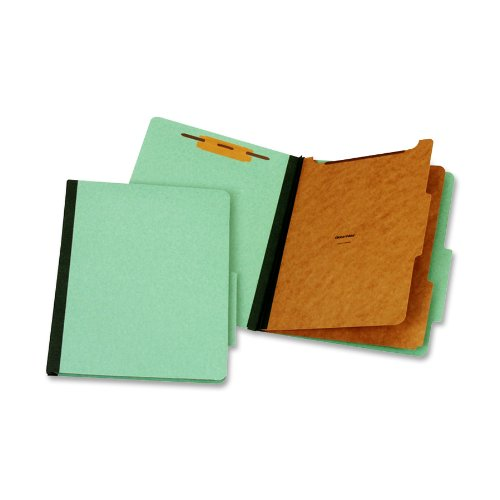 Pendaflex Classification Folder, Letter Size, 2 Divider, 1-Inch Fastener, Green, One Folder (PU61 GRE)