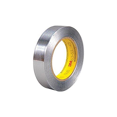 3M 425 Aluminum Foil Tape, 60 yds Length x 1'' Width, Silver