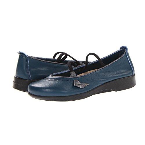 Mary Indigo Janes Leather (Arcopedico Womens Vitoria Indigo/Pewter Flat 38 (US Womens 7-7.5) M)