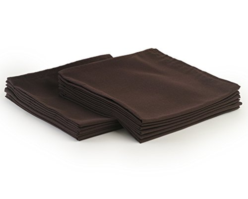 YOURTABLECLOTH Cloth Dinner Napkins100% Spun Polyester with Hemmed Edges 20x 20