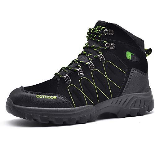 Mens Hiker Suede Leather Waterproof Hiking Boot Outdoor Backpacking Shoe
