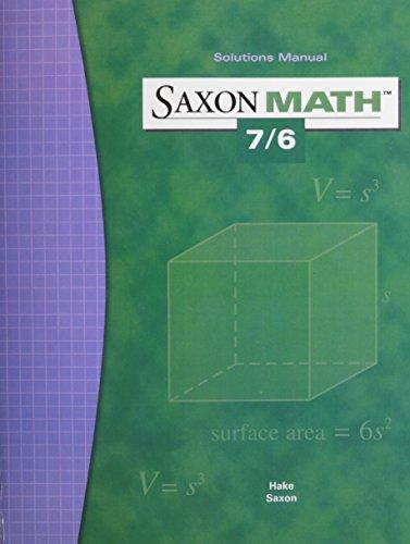 Saxon Math 7/6