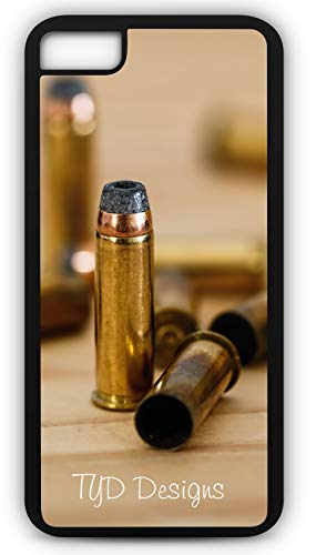 iPhone 7 Plus 7+ Case Bullet Cartridge Ammunition Shell Customizable by TYD Designs in Black Plastic ()