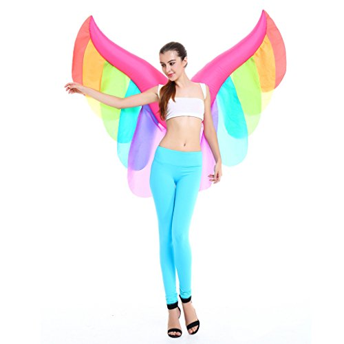 MonkeyJack Inflatable Constume Butterfly Wing Adult Fairy Angel Air Blow Up Fancy Dress (Kids Constumes)