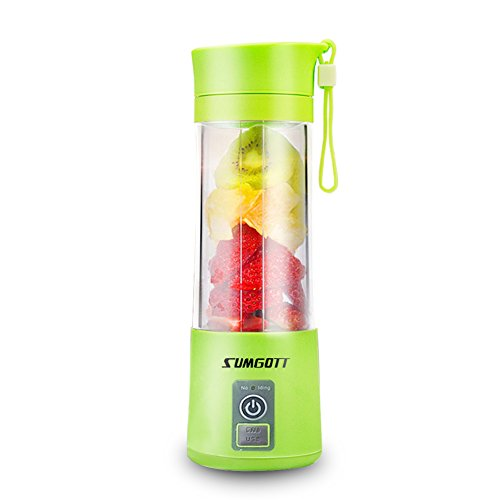 Best Prices! Portable Blender USB Juicer Cup - SUMGOTT Juicer Machine with USB Charger Fruit Mixing ...