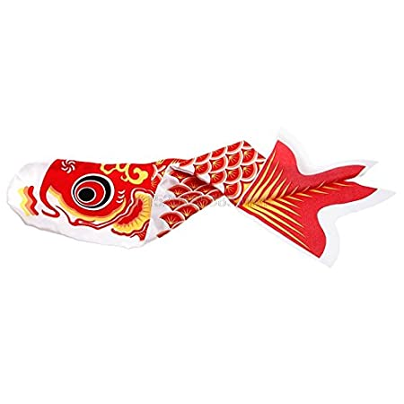 SECVBG /70Cm Japanischer Karpfen Windsack Streamer Fisch Flag Kite Koi