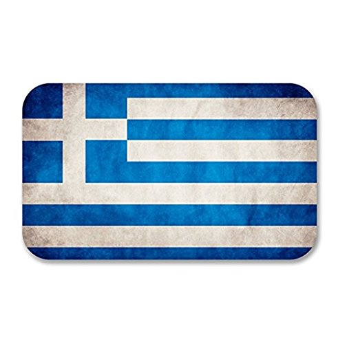 - 3 Pack - Greek Greece Flag Vinyl SELF ADHESIVE STICKER Decal - Sticker Graphic - Construction Toolbox, Hardhat, Lunchbox, Helmet, Mechanic, Luggage