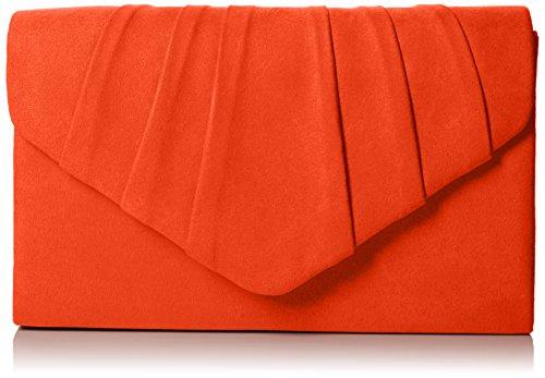 SwankySwans Clutch Orange Clutch Party Prom Women's Suede Bag Scarlet Iggy Envelope Velvet rwzrqCv