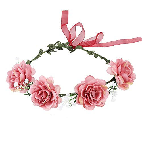 Flower Headband Hairwear Bridal Hair Ornament Fabric Flower Crown Wedding Hair Accessories Headbands Floral Head -