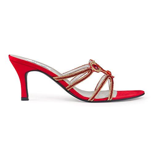 Satin Beaded Beaded Satin Satin Red FARFALLA Sandals Sandals FARFALLA Red Red FARFALLA Sandals FARFALLA Beaded 1q7PU