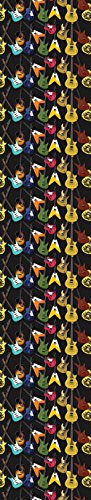 JP London uStrip Lite UCLT11002 Prepasted Wall Mural Hendrix Guitars Collage Musical Rock Band, 8.5-Feet by 1.5-Feet