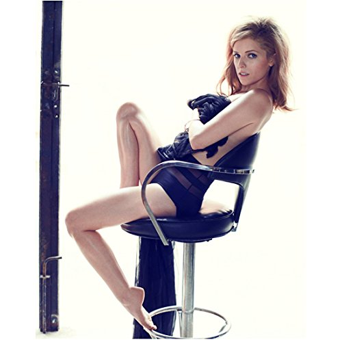 Anna Kendrick Posing Seated in Black 8 x 10 inch Photo
