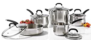 Starfrit Essentials 10 Piece Stainless Steel Cookware Set