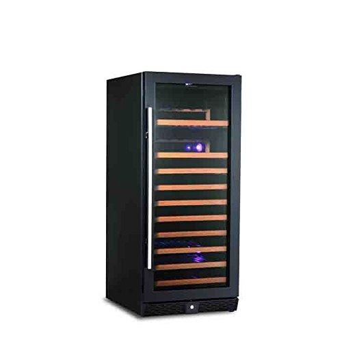 KingsBottle 98 Bottle Single Zone Wine Cooler, Borderless Black Glass Door (Kings Bottle Wine Fridge compare prices)