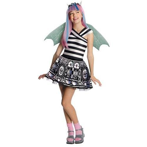 Monster Costume Ideas For Kids (Spirit Girls' Monster High Rochelle Goyle Costume Multicoloured)