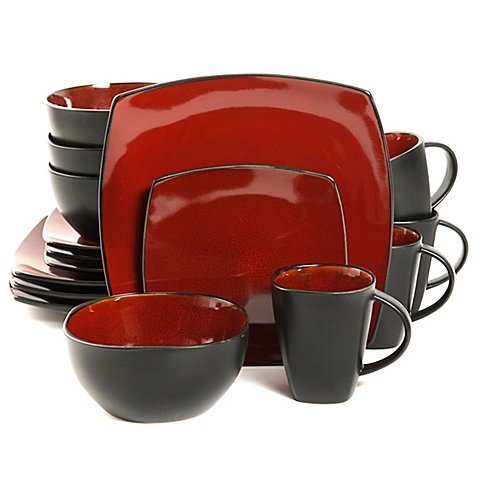 Gibson Home Amalfi 16-Piece Dinnerware Set, Dishwasher safe