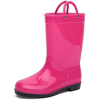 CIOR Rain Boots Durable PVC & Rubber Kids Waterproof Shoes for Girls Boys