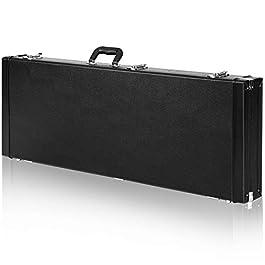CAHAYA Electric Guitar Case Hard Shell Rectangle Shaped Guitar Case Hardshell for Standard Electric Guitars with Lock…