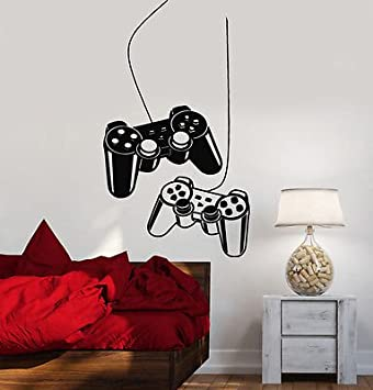 Removable Vinyl Wall Art Stickers Eutecado Game Controller Wall Decals Play Quotes Wall Decors Murals Creative Wall Poster for Kids Playroom Nursery