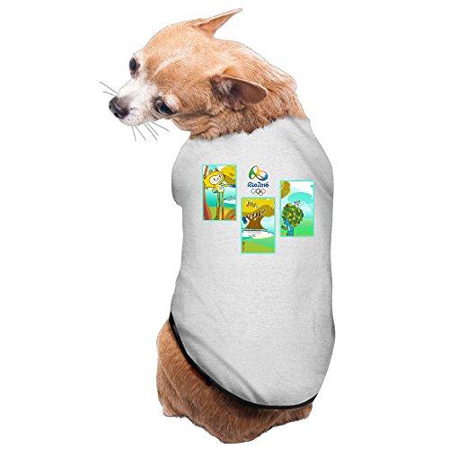 Olympics Games The 2016 Rio De Janeiro Pet Doggy T Shirt Gray Size M