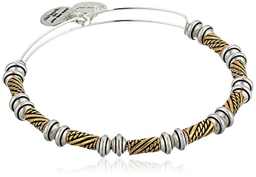 (Alex and Ani Quill EWB, Two Tone Bangle Bracelet)