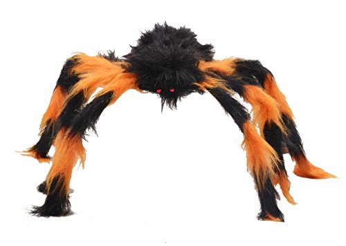Third Goddess 30 Inch Huge Halloween Decorations Hairy Spider ()