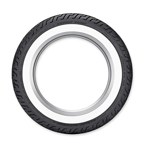 Dunlop Harley-Davidson D402 Rear Motorcycle Tire MU85B-16 Slim White Wall for Harley-Davidson Road King Classic FLHRC//I 2004-2008 77H
