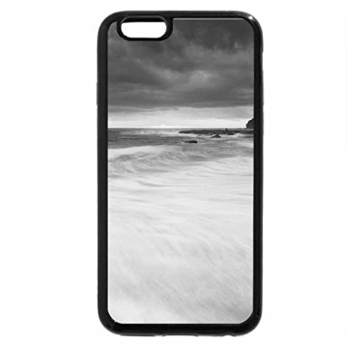 iPhone 6S Plus Case, iPhone 6 Plus Case (Black & White) - BEACH SUNRISE