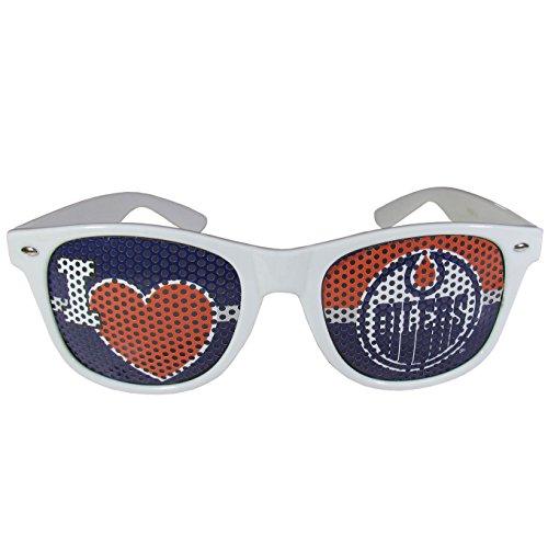 Edmonton Oilers Game (NHL Edmonton Oilers I Heart Game Day Shades, White,Adult,White)