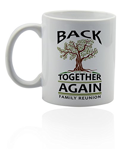 Family reunion ceramic mug for coffee or tea 11 oz. Funny gag joke gift cup. ()