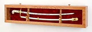product image for All American Gifts Single Sword Display Case - Deluxe Wall Display (USMC/Red Velvet)