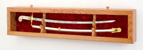 Single Sword Display Case - Deluxe wall display (USMC/Red Velvet) (Single Sword Display Wall)