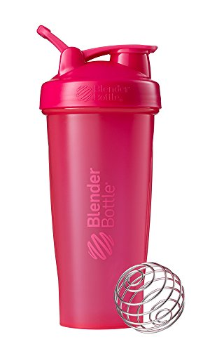 BlenderBottle Classic Loop Top Shaker Bottle, Full Color Pink, 28-Ounce Loop Top