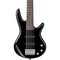 Ibanez GSRM25 Mikro 3/4 Size Electric Bass Guitar - 5 Strings - Black Finish