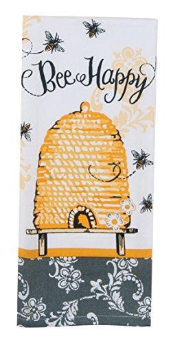 - Kay Dee Designs Cotton Tea Towel, 18 by 28-Inch, Bee Happy